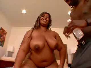hot stimulating black oiling her superb big boobs