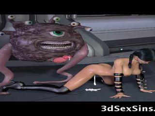 Ogres 和 aliens 他妈的 3d elf 女孩!