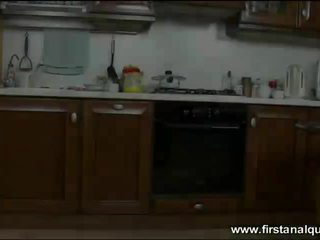Sensual teen Henessy anal in the kitchen