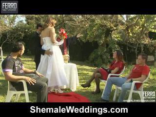 Shemale weddings proudly esittelee senna, camile, patricia_bismarck sisään porno kohtaus