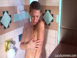 sexy babe taking a shower