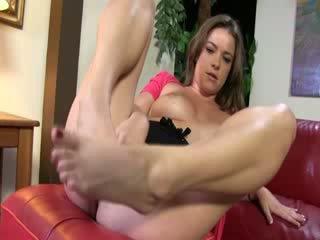 Black cock slut footjob action
