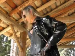 Blonde Shemale In Latex Dress Outdoor