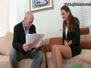 Allie Haze is fucked during work inteview