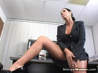 Your Chief Spends The Lot Of Time Inside Her Office All Over A Door Closed Acting Busy But We All Know She Doesn't Have That Much To Do. Does She Sit There Round Her Feet Onto Her Desk All Day? Of Cou