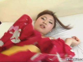 Asian Goddess Kousaka Anna Receives A Hot Ccreampie