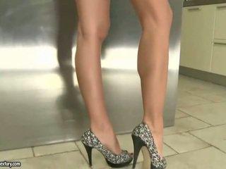 nieuw voet fetish vid, plezier solo girls kanaal, lange benen