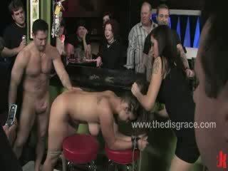 Bella Rossi cums like a filthy whore on the ground