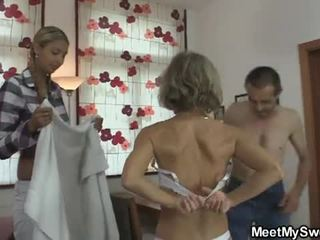 She is lured into oral threesome by his parents