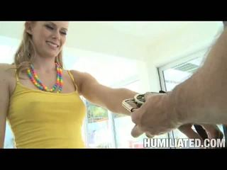 Disgraced 18: Blonde slut sunset loses her innocence after being tied and gagged!