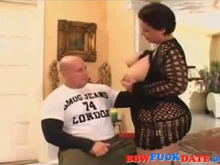 BBW woman rides and fuck guy