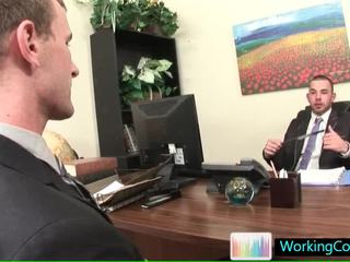 Job Interview Resulting In Hawt STeamy Homo Porn By Workingcock