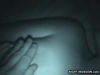 Doll Stroking shaft in Sleep