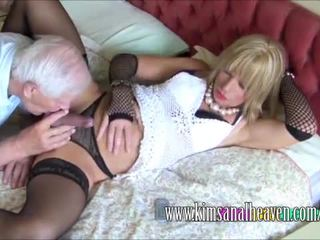 Blonde CD gets his dick sucked
