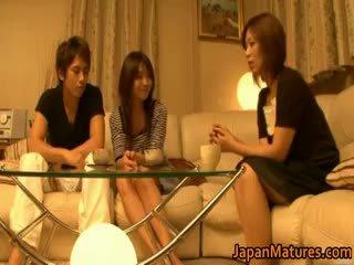 realiteit, japanse, groepsseks, grote borsten