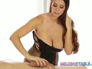 Alison tyler kukko milking a iso mulkku kohteeseen a kumulat laukaus