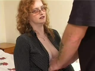 Hairy Pale Redhead Granny Gets Fucked