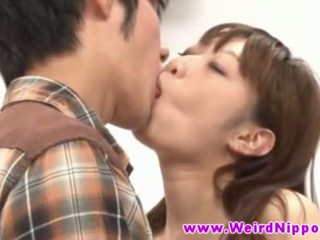 Young japanese teen hottie banged in crazy game