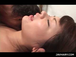 Close-up s asijské chlupatý dospívající twat fucked těžký a hluboký