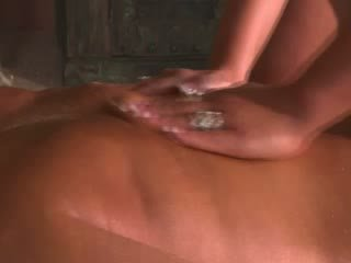Lezdom lesbo massaging her submissive