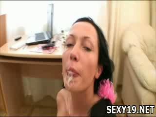 Stunning hot girl licks Big dick