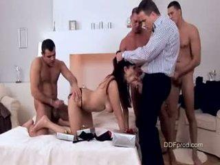 Messy Babe Aisha San Brutaly Fucked With Three Big Hard Cocks