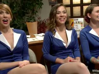 Sexy Females In Uniform Has Bonded And Toyed Huge