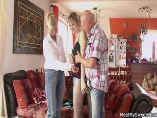 old man old and young mature milf granny grandpa scene