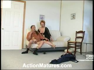 hard fuck, red head, doggy, mature