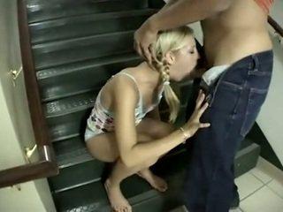 orale seks kanaal, deepthroat, heet tieners