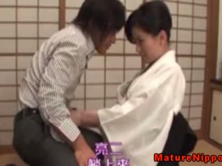 Insatiable Japanese Mature Giving Head