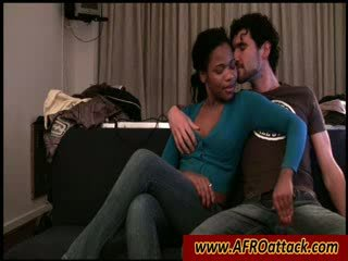 Ebony lover sucking big white Cock