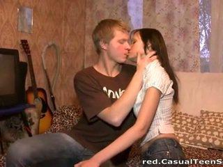 brunette, groot orale seks, vol tieners neuken