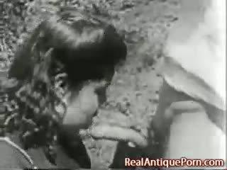 1915 משוגע עתיק בחוץ פורנו!