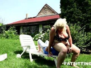 Choking Facesitting Performed By Big Blonde