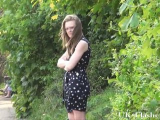 Youngster Public Nudity And Lauras Initiate Flashing Outdoor Of Smut English Exhibitionist Lass Undressing Downtown