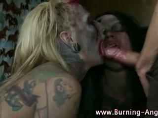 Emo punk rocking fetish zombie sluts
