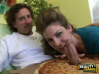 Hot Brunette Kayla Paige Fills Her Sugary Lovely Face Hole With A Meaty Hot Dong