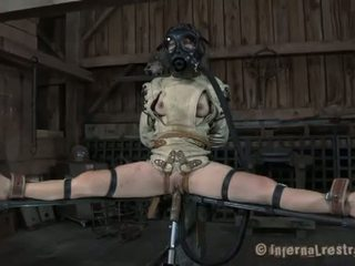 bdsm, bondage, gas mask