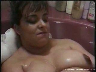 masturbatie, ideaal volwassen thumbnail, vol aged lady