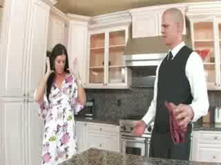 Deep bum sex in heels in the kitchen