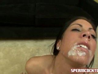 Изпразване paramour eva ellington gets а loadful на jock batter в тя сладъл уста