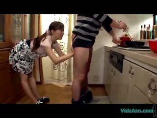 blowjobs, kitchen, asian