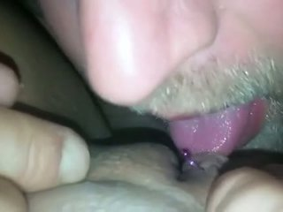 Eating Wifes Shaved Pussy