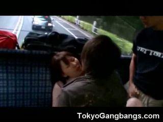Oriental Cumed On in a Bus!