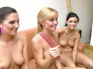 Hot Chick Sylvia Saint Is Playing Pussies With Her Scorching Bald Friends