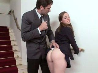 plezier brunette, controleren orale seks scène, een tieners porno