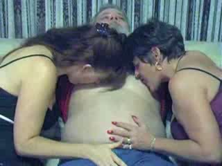 Old man fucking his wife and her sister Video