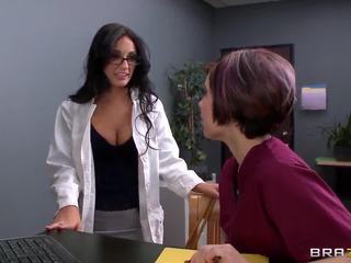natural tits, doctor, uniform, raven