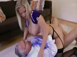 Naughty mature stockings fetish blonde